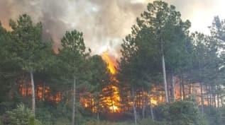 Kütahya'da 2 gün içerisinde çıkan 6 yangından 5'inin nedeni yıldırım düşmesi