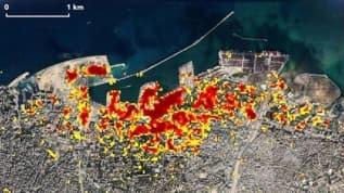 NASA paylaştı! İşte Beyrut'taki patlama anı görüntüleri