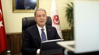 Bakan Akar'dan Doğu Akdeniz mesajı: Oruç Reis için tüm tedbirler alındı