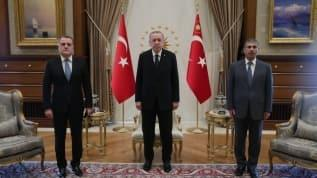 Başkan Erdoğan, Külliye'de Azerbaycan Dışişleri Bakanı Bayramov'u kabul etti