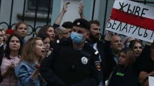 Belarus'ta protestolar devam ediyor