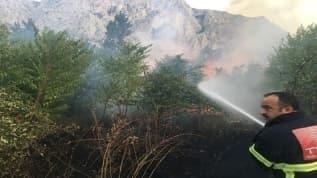 Amasya'daki yangında 5 dönüm alan zarar gördüğü belirtildi