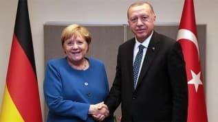 Başkan Erdoğan, Angela Merkel ile görüştü