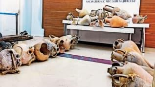 Define baskını: Batık gemilerdeki antik testileri yurtdışına kaçıracaklardı!