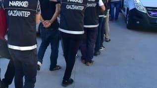 Gaziantep'te zehir tacirlerine operasyon: 28 gözaltı