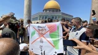 Mescid-i Aksa'da BAE protesto edildi