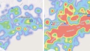 Malatya'da korona alarmı! 15 günde harita yeşilden kırmızıya dönüştü