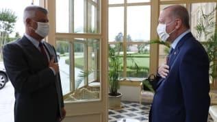 Başkan Erdoğan, Kosova Cumhurbaşkanı ile bir araya geldi