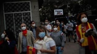 İspanya'da koronavirüs kısıtlamaları protesto edildi