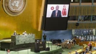 Başkan Erdoğan'ın İsrail'e yönelik eleştirileri, BM'de İsrail Büyükelçisi'ne salonu terk ettirdi