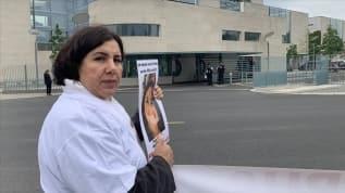 Almanya'da terör örgütü PKK tarafından kızı kaçırılan annenin eylemi sürüyor
