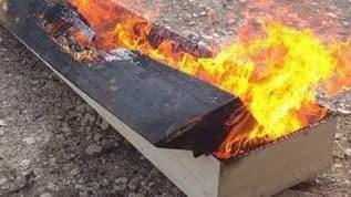 Kütahya'da virüsten ölen adamın tabutunu da yaktılar