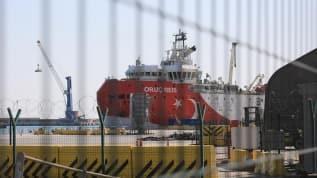Test çalışmalarını tamamlayan Oruç Reis, Antalya Limanı'na döndü