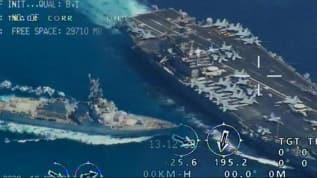 Tehlikeli takip! ABD donanması üzerinden yakın geçiş yaptılar