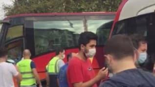 İstanbul Laleli'de trafik kazası! Tramvay ile otobüs çarpıştı