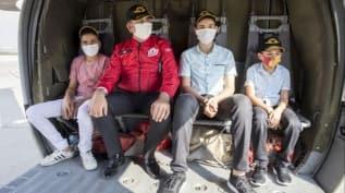 Şehit çocuklarının helikopter hayali TEKNOFEST ile gerçek oldu