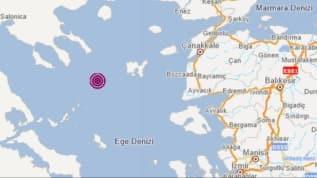 Çanakkale Gökçeada açıklarında 4.3 büyüklüğünde deprem!