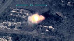 Azerbaycan'dan ilk görüntü! Ermeni hedefleri böyle vurdu