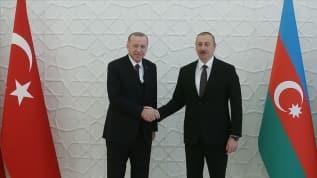 Aliyev'den Erdoğan'a teşekkür