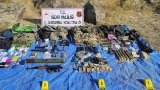 Gri kategorideki teröristin etkisiz hale getirildiği operasyonda mühimmat ele geçirildi