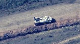 İşgalci Ermenistan'ın ateşkesi ihlal eden zırhlı araçları imha edildi