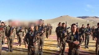 Terör örgütü PKK'nın Sincar'daki kampları böyle görüntülendi