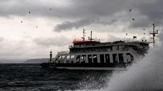 Deniz ulaşımına 'fırtına' engeli