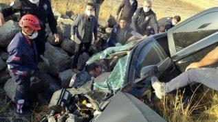 Araba şarampole yuvarlandı, bir kişi öldü