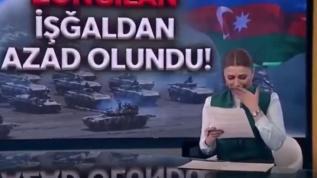 Azeri spiker haberi sunarken gözyaşlarını tutamadı:15 yıldır bu anı bekliyordum
