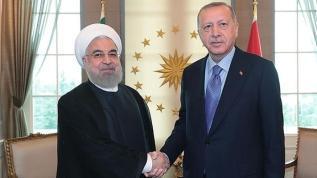 Başkan Erdoğan, İran Cumhurbaşkanı Ruhani ile görüştü