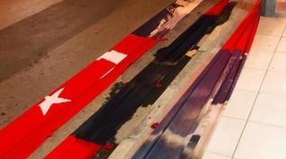 Manisa'da Türk bayrağına büyük saygısızlık! Soruşturma başlatıldı