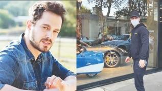 Ünlü isim Murat Boz lüks araç teftişinde