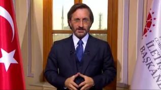 İletişim Başkanı Altun'dan Türk Kızılay'a video mesaj