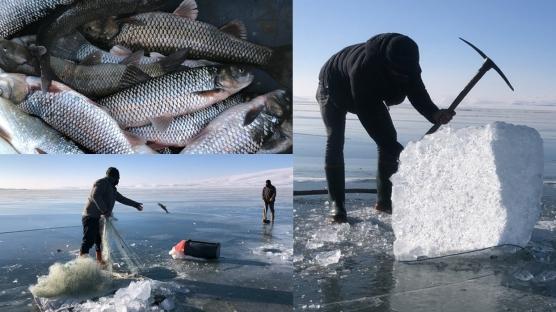 Çıldır Gölü'nde Eskimo tarzı av