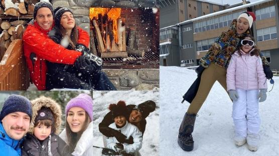 Ünlülerin kar mutluluğu