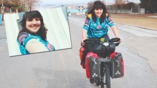 Brezilyalı Larissa Türkiye'de... Bisikletle dünya turu