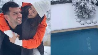 Murat Yıldırım'ın eşi İmane Elbani'ye sevgisi havuzda