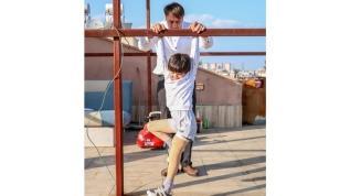 Çatıda protez antrenmanı
