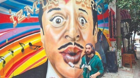 İzmir aşığı Moreno için portreli anma