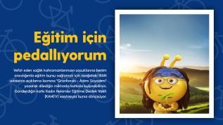 Turkcell'le pedallar eğitim bursu için dönecek