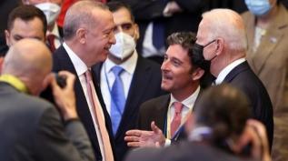 Başkan Erdoğan ile Biden arasında sohbet