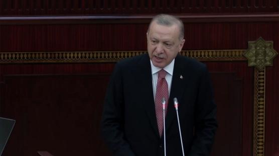 Azerbaycan Meclisi'nde Başkan Erdoğan'dan tarihi rest