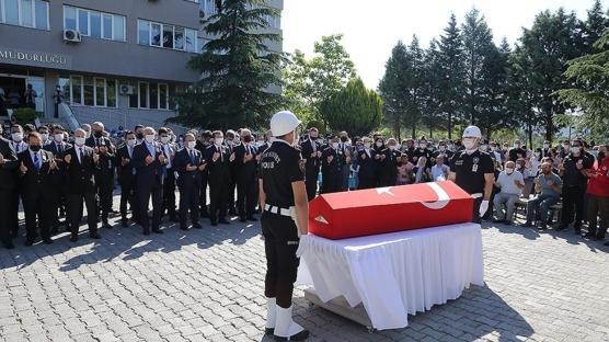 Şehit polis Ercan Yangöz için tören düzenlendi