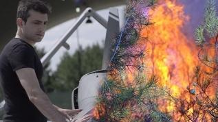 Yangını bırakıp İHA'ları hedef aldılar!