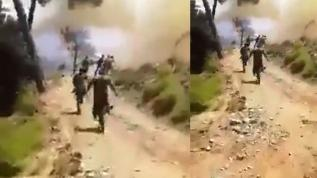 İşte yangında kahraman Türk askeri