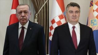 Başkan Erdoğan Hırvatistan Cumhurbaşkanı ile görüştü