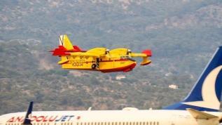 İspanya'dan gelen uçaklar Muğla'da göreve başladı
