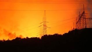 Yangının termik santrale sıçramaması için uğraş veriliyor
