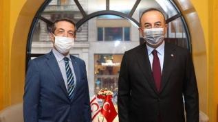 Bakan Çavuşoğlu KKTC'li mevkidaşı ile görüştü