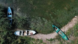 İznik Gölü'nde su çekildi